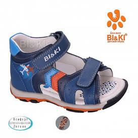 Детские кожаные босоножки для мальчика BI&KI Польша размеры 21-26