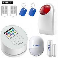 Комплект сигнализации Kerui alarm W2 с Wi-Fi и сиреной