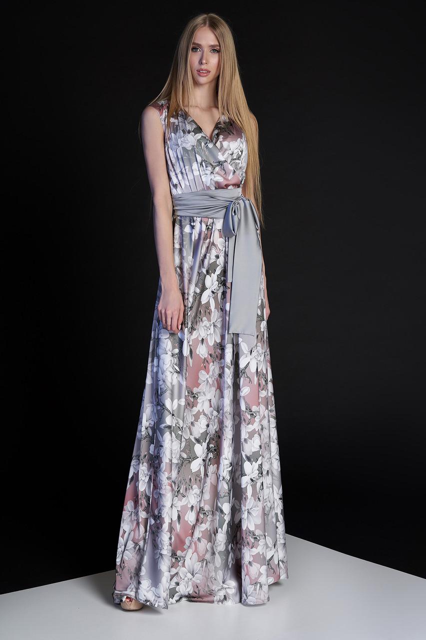 949e184863b Женское стильное платье с цветочным принтом