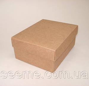 Коробка подарочная из крафт картона 125x160x70 мм.