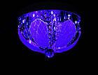 """Люстра """"торт"""" на 3 лампочки с LED подсветкой на пульте управления СветМира  VL-1804/300/3, фото 2"""