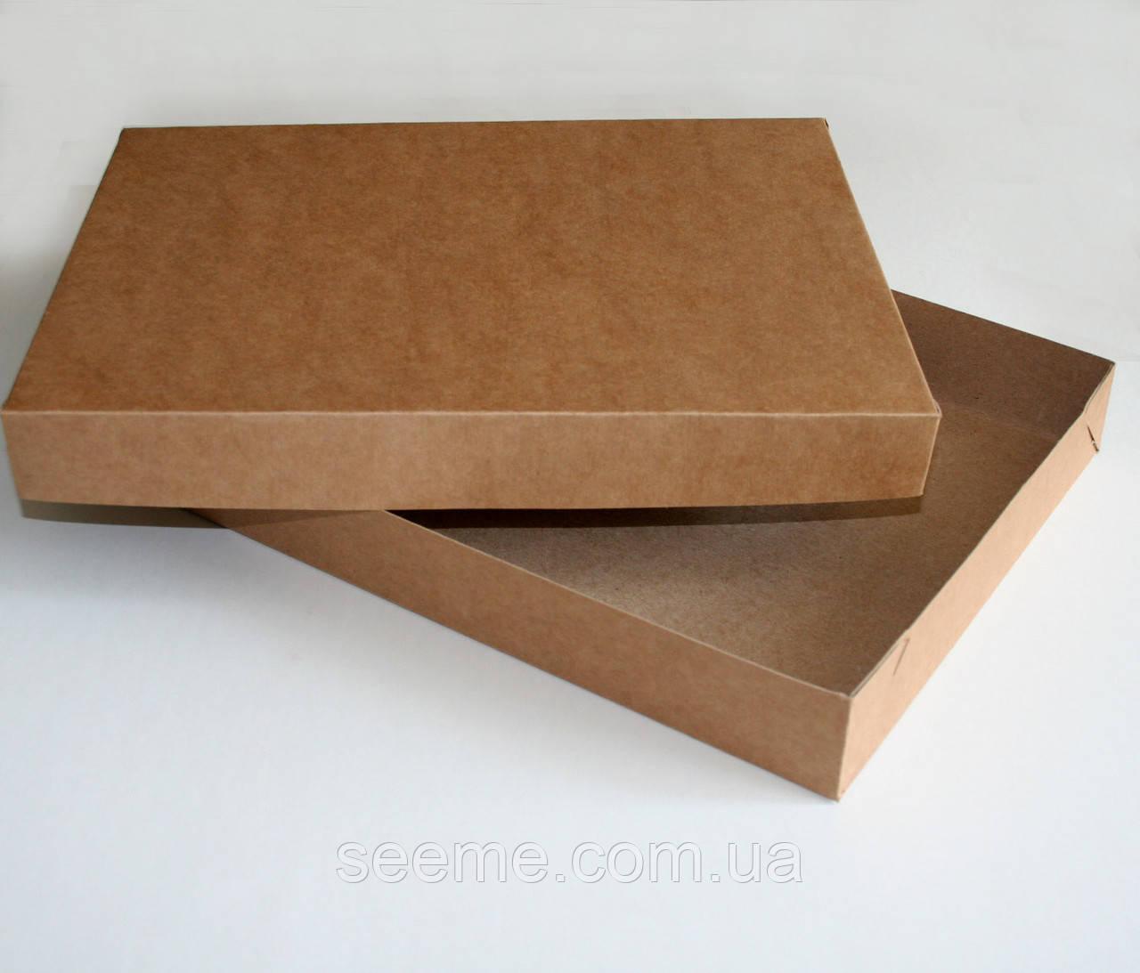 Коробка подарочная из крафт картона, 360х280х50 мм.