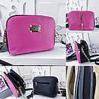 Женский клатч цвета малина+чёрный Louis Vuitton (копия), из структурной эко кожи, фото 2