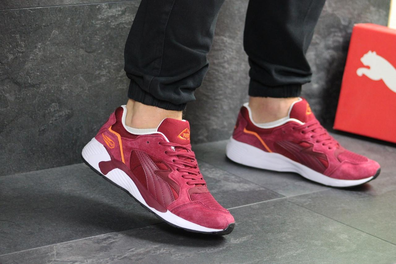 Мужские кроссовки Puma Trinomic (бордовые)