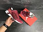Мужские кроссовки Puma Trinomic (бордовые) , фото 2