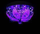 """Люстра """"торт"""" на 3 лампочки с LED подсветкой на пульте управления СветМира  VL-1627/300/3, фото 2"""