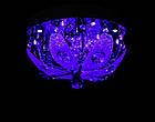 """Люстра """"торт"""" на 3 лампочки с LED подсветкой на пульте управления СветМира  VL-1627/300/3, фото 4"""