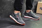 Мужские кроссовки Reebok (серо-черные с оранжевым), фото 4