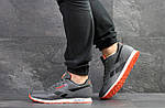 Мужские кроссовки Reebok (серо-черные с оранжевым), фото 6