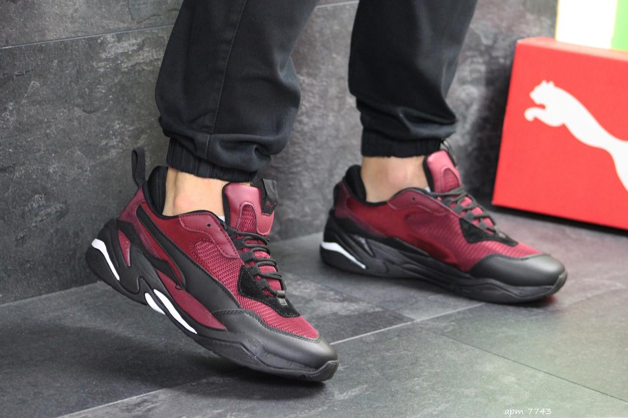 Мужские кроссовки Puma (бордовые)