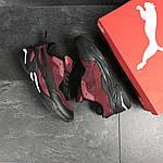 Мужские кроссовки Puma (бордовые) , фото 3