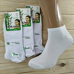 Женские носки деми  MARJINAL Турция  бамбук 36-40р короткие белые  НЖД-021273