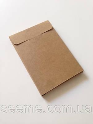 Коробка подарочная из крафт картона 108x155x14 мм.