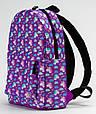 Рюкзак TwinsStore MINI Единороги Р95, фиолетовый 12 л, фото 2