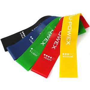 Ленты сопротивления набор фитнес резинок U-Powex 5шт. 149895