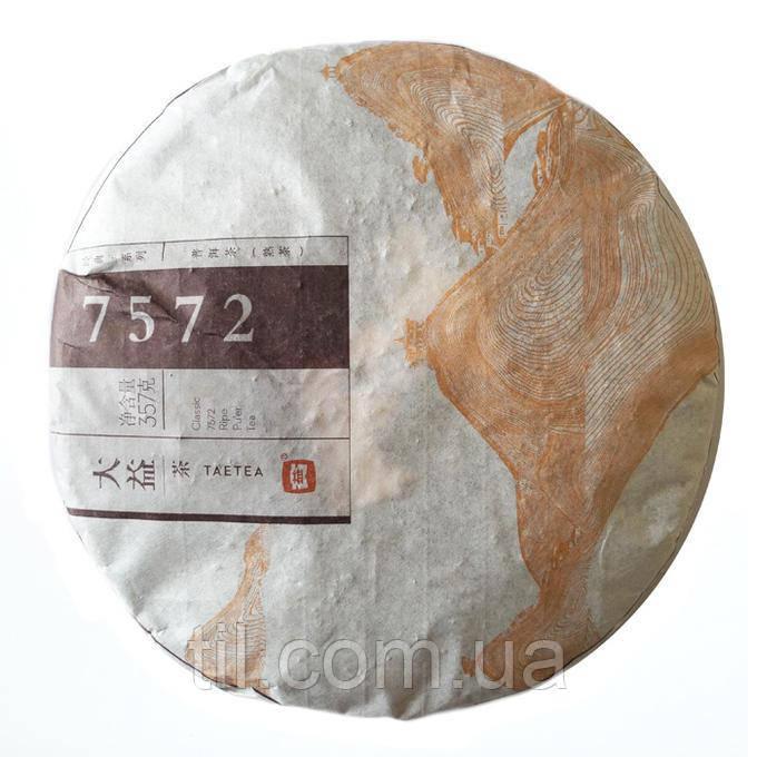 """Шу Пуэр """"7572"""" (Блин) 2014 г. 357 гр. Фабрика ДаИ (Менгхай)"""