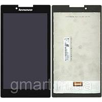 Оригинальный дисплей Lenovo Tab 2 A7-30HC черный (LCD экран, тачскрин, стекло в сборе), Оригінальний дисплей Lenovo Tab 2 A7-30HC чорний (LCD екран,