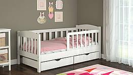 Дитяче ліжко від 3 років з бортиками Ассоль біла