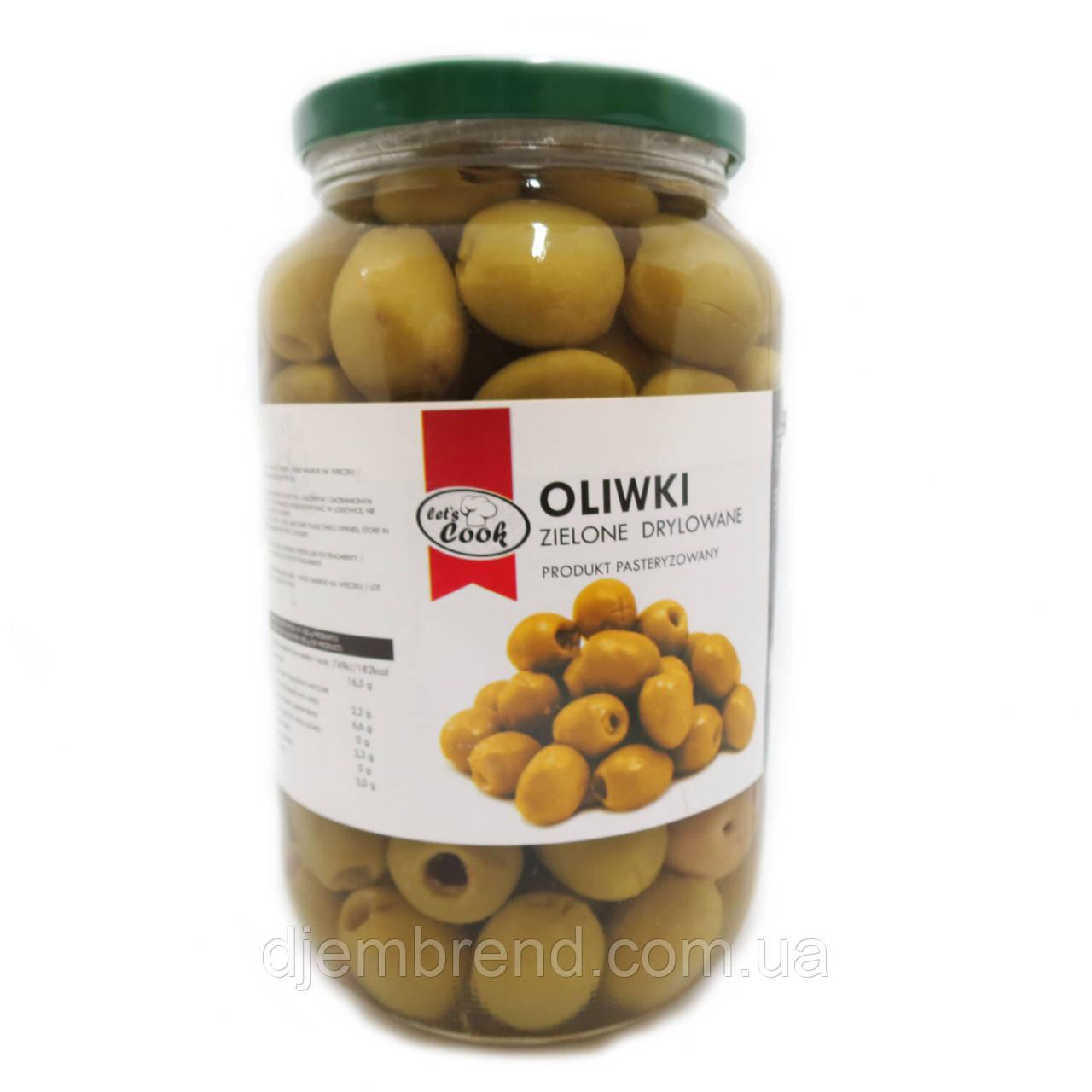 Оливки Let's Cook - зеленые без косточки 1000 г