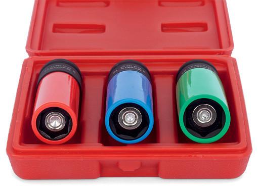 Набор головок для легкосплавных дисков, с магнитом удлиненная форма с цветовой маркировкой размеров Wurth