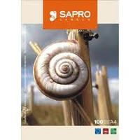 Этикетка на листах A-4 (широкий ассортимент) SAPRO-самоклеющаяся бумага