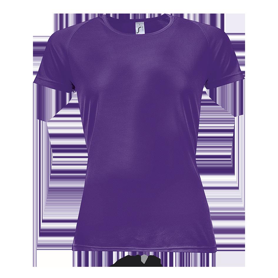 Женская спортивная футболка, т.фиолетовый, SOL'S SPORTY WOMEN от XS до XXL