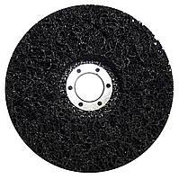 """Круг зачисний Polystar Abrasive """"Водорості"""" з нетканого абразиву, чорний, 125*22 мм (PAB125-22)"""