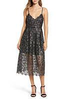 Женское нарядное черное серебристое платье  ASTR
