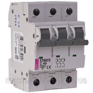 Автоматический выключатель ETI 3p 40A
