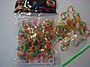 200 штук в виде сердце пятицветных резиночек для плетения Loom Bands