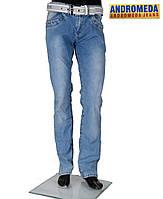 Джинсы мужские с ремнем из легкой джинсовой ткани,на лето