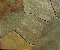 Песчаник жёлтый коричневый H-20 мм