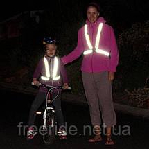 Сигнальные светоотражающие пояс-ремни для вечерних велопоездок, бега, фото 3
