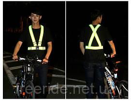 Сигнальные светоотражающие пояс-ремни для вечерних велопоездок, бега, фото 2