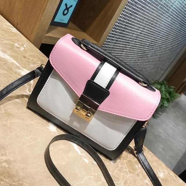 Мини сумочка с розовой крышкой