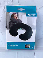 Подушка-подголовник Intex 33х25х8 см флоковое покрытие артикул 68675