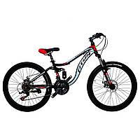 Горный детский двухподвесный велосипед Titan Pioneer 24″ NEW 2018