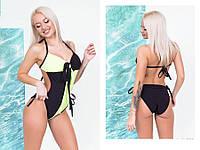 Сдельный женский купальник с открытой спиной 53kp226