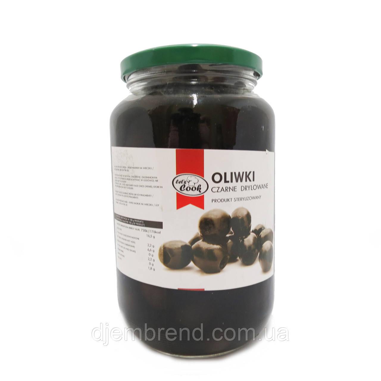 Оливки Let's Cook - черные без косточки 1000 г