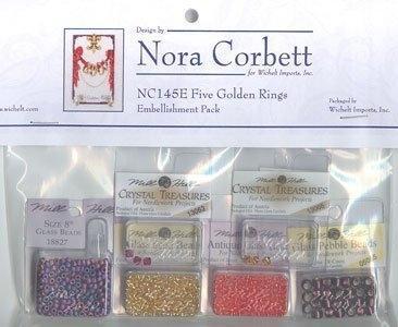 Бисер к схеме Five Golden Rings Nora Corbett Embellishment Pack