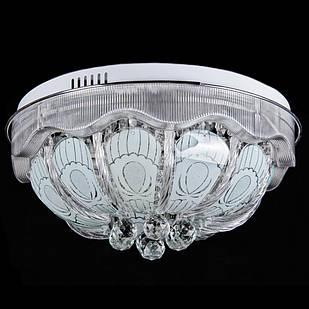 """Люстра """"торт"""" на 7 лампочек с LED подсветкой на пульте управления СветМира  VL-4432/500/6+1"""