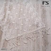 Свадебный шарф белый Цветочки, фото 3