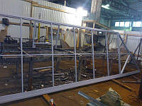 Откатные ворота из профнастила с 2-х сторон 3500х2000