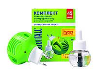 Набор MOSQUITALL Универсальная защита Фумигатор с диодом и жидкость от комаров 45 ночей
