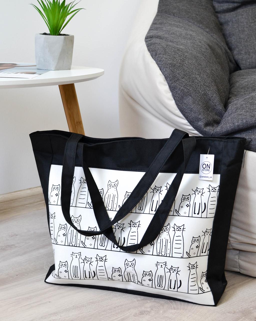 5069db4db54d Женская летняя пляжная сумка с принтом черного цвета: продажа, цена ...