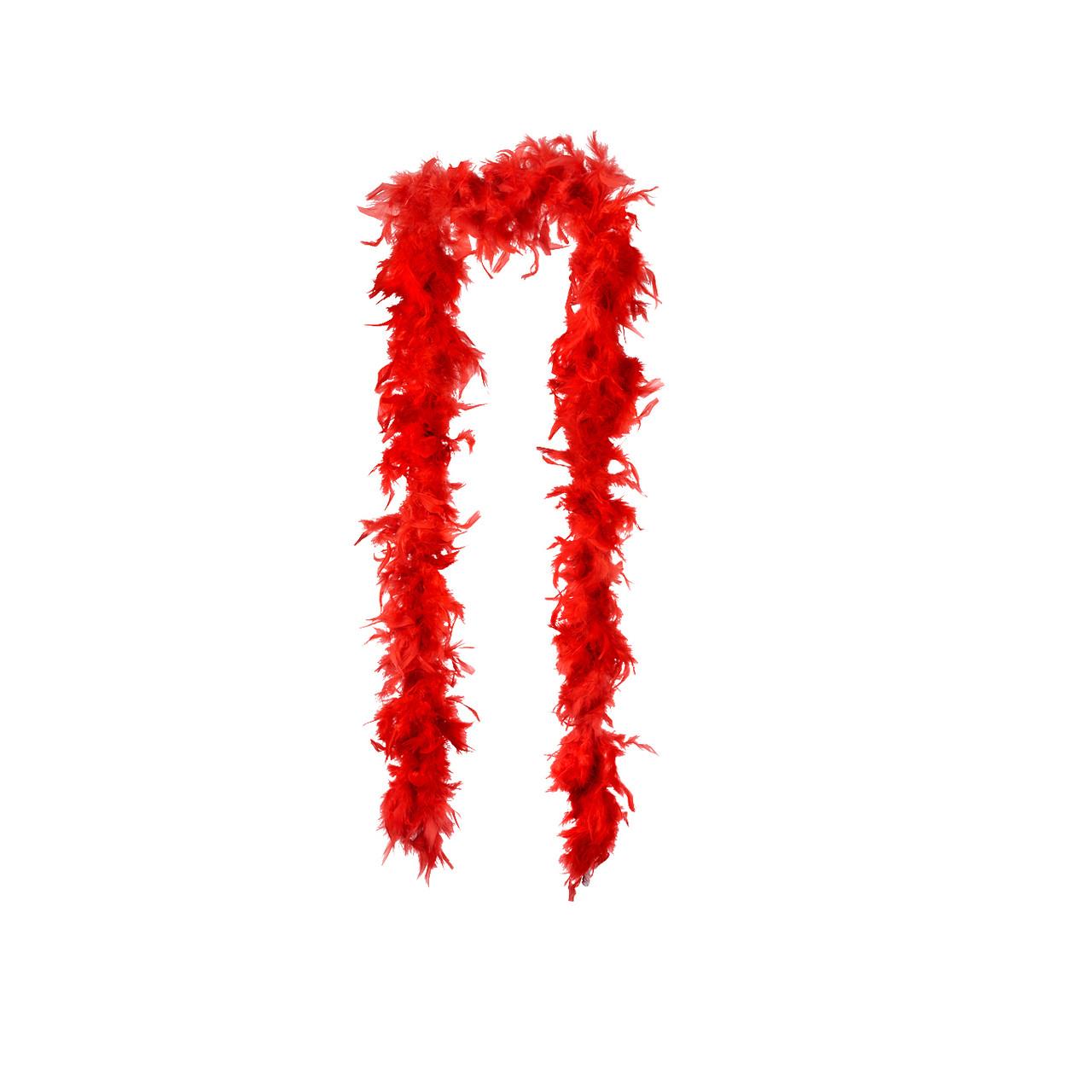 Боа червоний для танців і декору 40 г