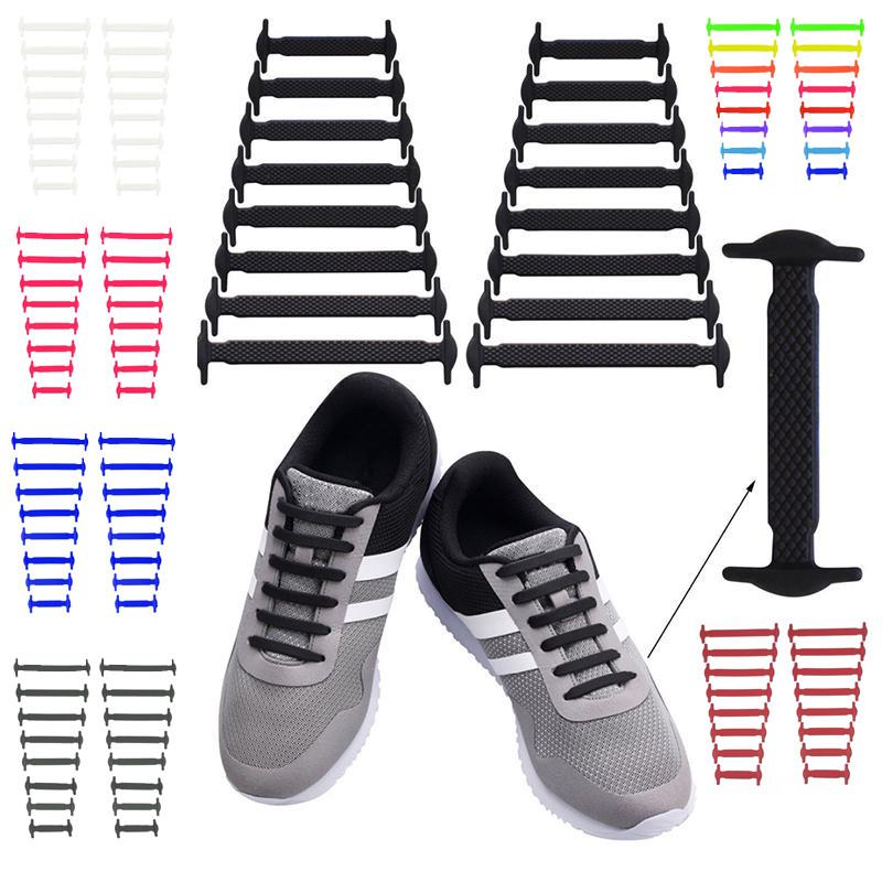 Силиконовые шнурки для обуви 16 шт