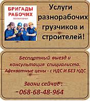 Услуги разнорабочих - грузчиков, подсобников.