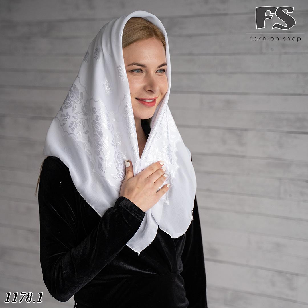 Белый маленький  платок свадебный Ангел