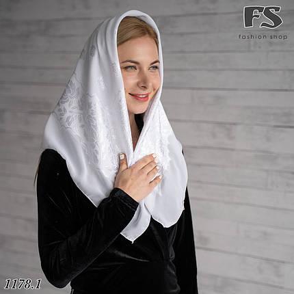 Белый маленький  платок свадебный Ангел, фото 2